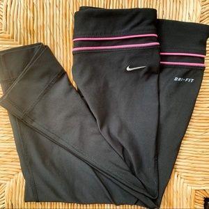 Nike Running Cropped Leggings | Black | Yoga Pants